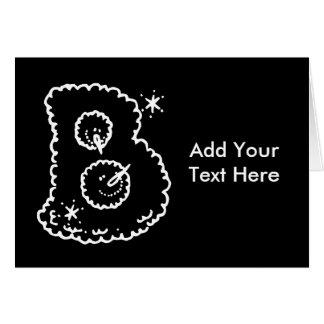 Niedlicher lustiger Schneeball stellt Monogramm Karte