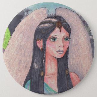 Niedlicher Mädchen-Engel winged Runder Button 15,3 Cm