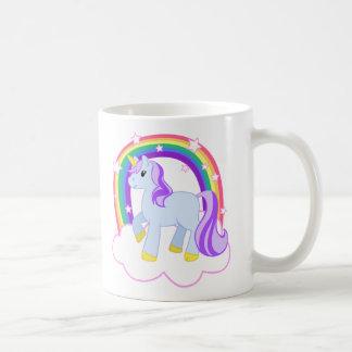 Niedlicher magischer Unicorn mit dem Regenbogen Kaffeetasse