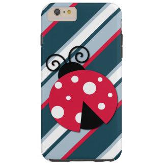 Niedlicher Marienkäfer-rotes weißes blaue Tough iPhone 6 Plus Hülle