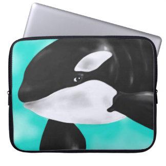 Niedlicher Orca-Wal Laptop Sleeve