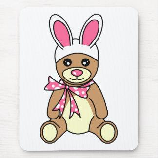 Niedlicher Osterhasen-Ohrenteddy-Bär Mousepad