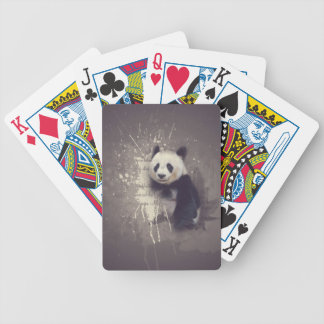 Niedlicher Panda abstrakt Bicycle Spielkarten