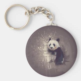 Niedlicher Panda abstrakt Schlüsselanhänger