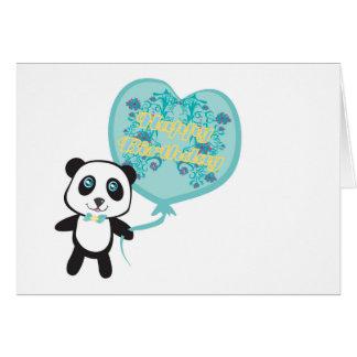 Niedlicher Panda mit Ballon Karte