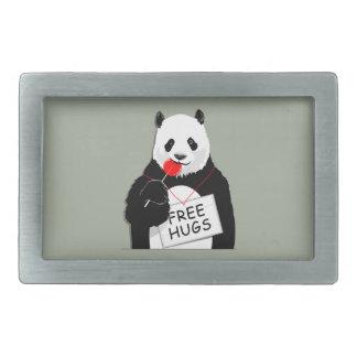 niedlicher Panda Rechteckige Gürtelschnallen