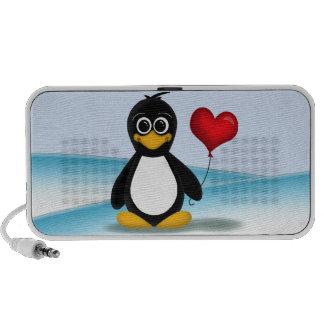 Niedlicher Penguin-Herz-Ballon - iPod Speaker