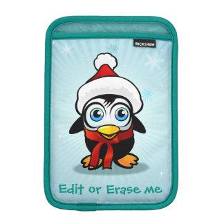 Niedlicher Penguin mit Weihnachtsmann-Hut iPad Mini Sleeve