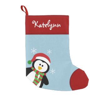 Niedlicher Penguin-personalisierter Kleiner Weihnachtsstrumpf
