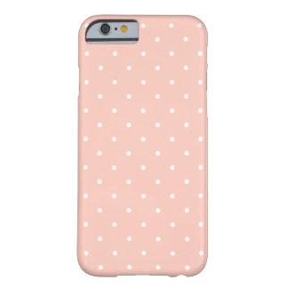 Niedlicher Pfirsich-weißes kleines Barely There iPhone 6 Hülle