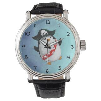 Niedlicher PiratPenguin Uhr