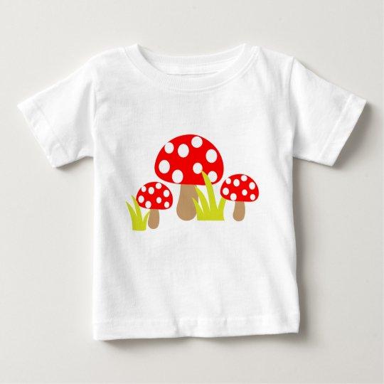 Niedlicher Polka-Punkt-Pilz - Baby-T - Shirt