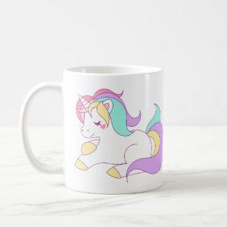 Niedlicher Regenbogen Unicorn Kaffeetasse