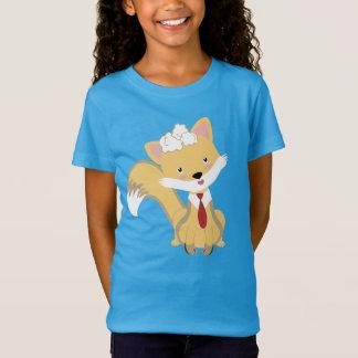Niedlicher reizender BabyFox mit roter T-Shirt