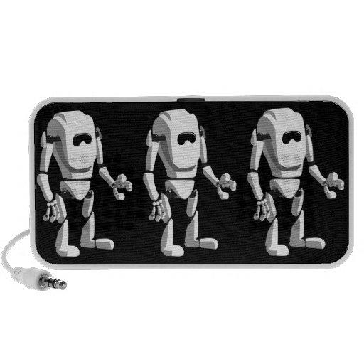 niedlicher Roboter Laptop Speaker