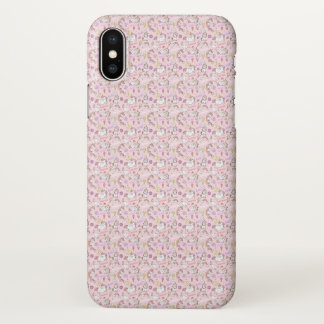 Niedlicher rosa Babyunicorns-Muster iPhone Fall iPhone X Hülle