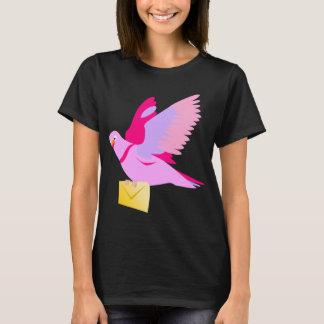 Niedlicher rosa Cartoon-Brieftaube-T - Shirt