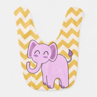 Niedlicher rosa Elefant-Baby-Schellfisch Lätzchen