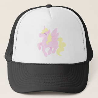 Niedlicher rosa Unicorn Pegasus (Unipeg) Truckerkappe