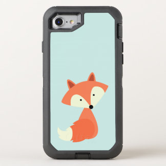 Niedlicher roter Fox OtterBox Defender iPhone 7 Hülle