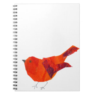 Niedlicher roter Vogel Spiral Notizblock