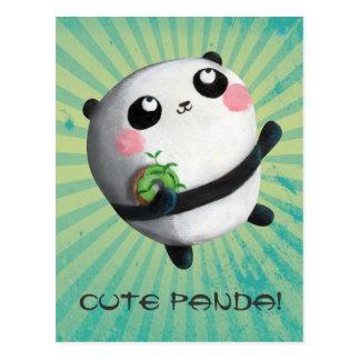 Niedlicher runder Panda Postkarte