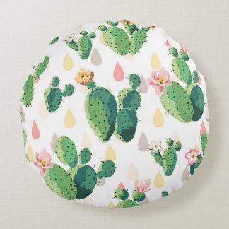 Niedlicher saftiger reizender Kaktus gerundetes Rundes Kissen