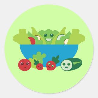 Niedlicher Salat Runder Aufkleber