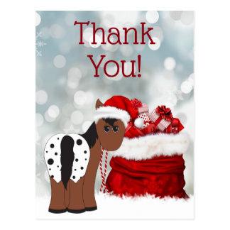 Niedlicher Sanktpferde-und -geschenk-Feiertag Postkarte