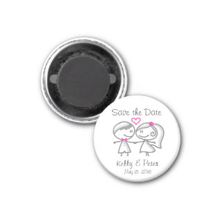 Niedlicher Save the Date Magnet