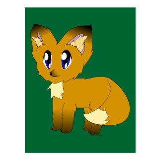 Niedlicher schäbiger kleiner Fox Postkarte
