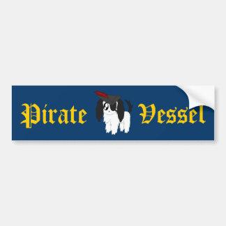 Niedlicher schäbiger Piraten-Welpe Autoaufkleber