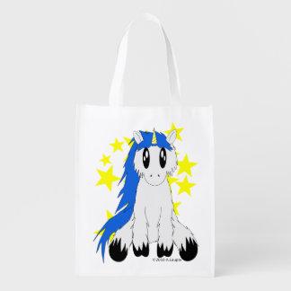 Niedlicher schäbiger Unicorn-wiederverwendbare Wiederverwendbare Einkaufstasche