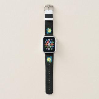 Niedlicher schäbiger Wolf mit Apple Watch Armband