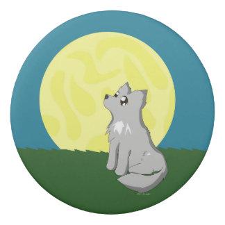 Niedlicher schäbiger Wolf mit Mond-Radiergummi Radiergummi 1