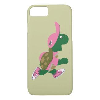 Niedlicher Schildkröte-Läufer im Rosa iPhone 8/7 Hülle