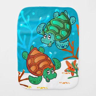 Niedlicher Schildkröte-Ozean-BabyBurp Spucktücher