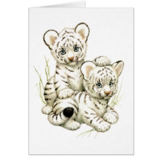 Niedlicher Schnee-Tiger CUB Karte