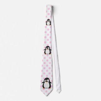 Niedlicher Schwarz-weißer Penguin und lustiger Individuelle Krawatten