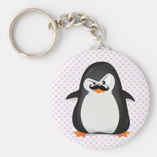 Niedlicher Schwarz-weißer Penguin und lustiger Sch Schlüsselbänder