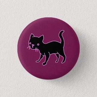 Niedlicher schwarze Katzen-runder Knopf Runder Button 2,5 Cm