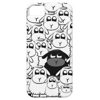 Niedlicher schwarze Schafe iphone Kasten Barely There iPhone 5 Hülle