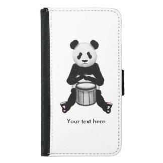 Niedlicher Schwarzweiss-Panda-Schlagzeuger Geldbeutel Hülle Für Das Samsung Galaxy S5