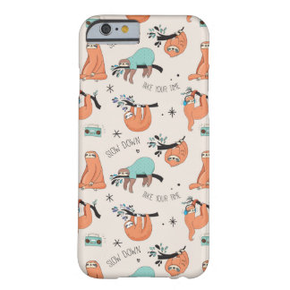 Niedlicher Sloth iPhone Fall Barely There iPhone 6 Hülle