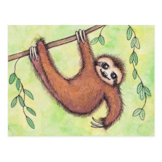 Niedlicher Sloth Postkarte