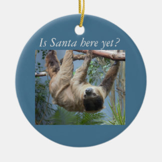 Niedlicher Sloth Rundes Keramik Ornament