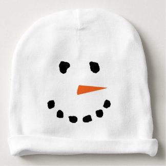 Niedlicher Snowman-Gesichts-Winter-Hut Babymütze