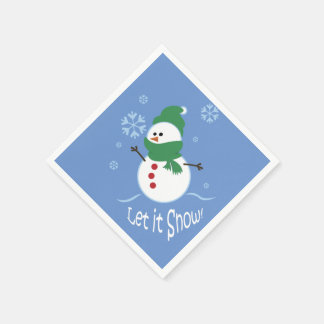 Niedlicher Snowman ließ es schneien Papierservietten