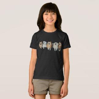 Niedlicher Spitz-maltesische Hundewelpen-Mädchen-T T-Shirt