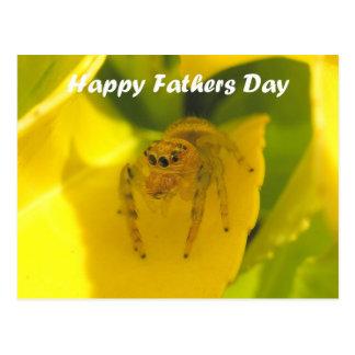 Niedlicher springender Spinnen-glücklicher Postkarten